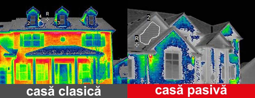 Poza comparativa casa clasica vs casa pasiva